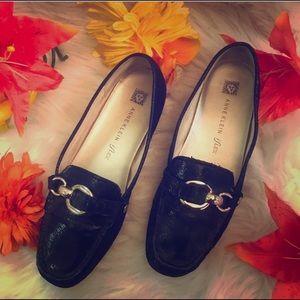 Anne Klein black loafers